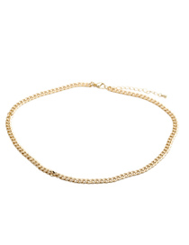 Fashion 50cm Long Necklace (type B) Copper Gold-plated Diamond Thick Chain Necklace