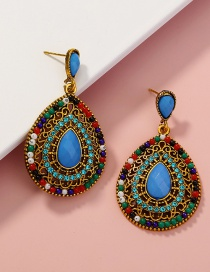 Fashion Color Mixing Rice Beads Beaded Drop Earrings