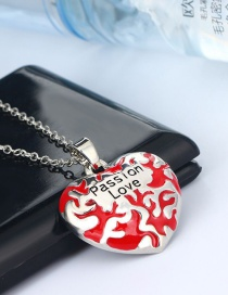 Fashion Silver Color Love Letter Alloy Necklace