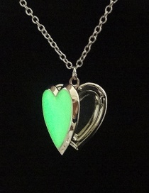Fashion Mixed Color Delivery Thermochromic Love Heart Alloy Necklace
