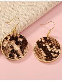 Fashion Leopard Leopard Round Geometric Alloy Earrings