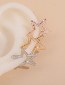 Fashion Suit Five-pointed Star Alloy Hollow Ear Clip Set