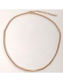 Fashion Gold Color Box Chain Alloy Thin Chain Necklace