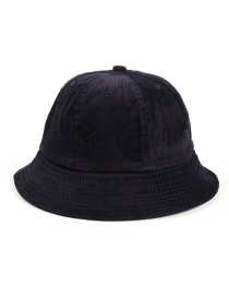 Fashion Navy Corduroy Light Board Stitching Fisherman Hat