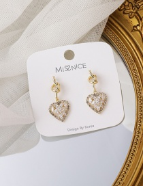 Fashion Gold Color Zircon Knotted Love Earrings