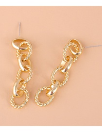 Fashion Golden Twisted Twist Circle Alloy Earrings
