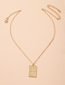 Fashion Golden Geometric Alloy Pendant Necklace