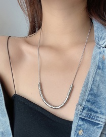 Fashion Silver Small Circle Stainless Steel Geometric Necklace
