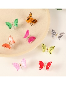 Fashion Suit Butterfly Resin Hit Color Wave Dot Childrens Catch