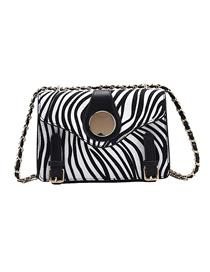 Fashion Zebra Pattern Crocodile Pattern Chain Shoulder Crossbody Bag