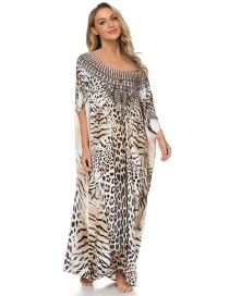 Fashion Printing Leopard Print Loose Oversized Long Skirt Blouse