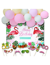Fashion Flamingo Suit Birthday Party Decoration Background Wall Decoration Balloon Set
