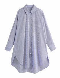 Fashion Stripe Single-breasted Loose Poplin Shirt