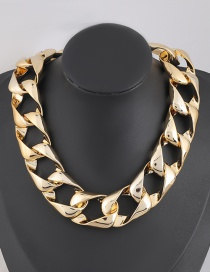 Fashion Golden Ccb Geometric Thick Chain Necklace