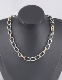 Fashion Silver Alloy Thick Chain Necklace