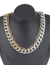Fashion Two-piece Suit Double Chain Alloy Ccb Necklace