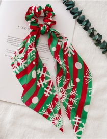 Fashion Red And Green Snowflake Streamer Christmas Bowel Ring With Streamers