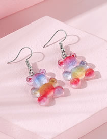 Fashion Color Mixing Bear Resin Alloy Earrings