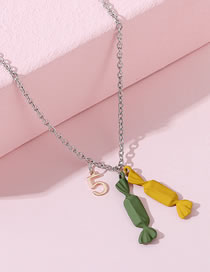 Fashion Color Mixing Frosted Spray Paint Small Candy Hit Color Digital Necklace
