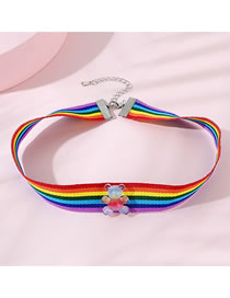 Fashion Color Mixing Little Bear Resin Contrast Color Childrens Necklace