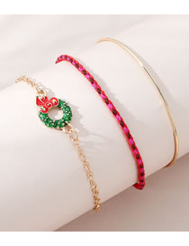 Fashion Gold Color Bowknot Dripping Oil Alloy Bracelet Set