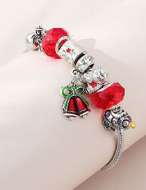 Fashion Red Bells Dripping Oil And Diamond Alphabet Alloy Bracelet