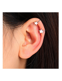 Fashion Silver Color Little Star Alloy Unilateral Earrings