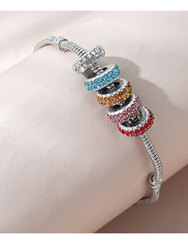 Fashion Color Mixing Diamond Beaded Contrast Bracelet