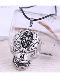 Fashion Skull Skull Pendant Alloy Necklace