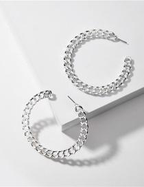 Fashion Silver Chain C-shaped Alloy Ear Ring