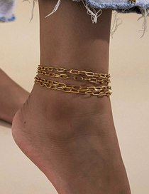 Fashion Golden Chain Multi-layer Anklet