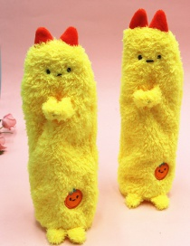 Fashion Yellow Plush Pencil Case With Doll