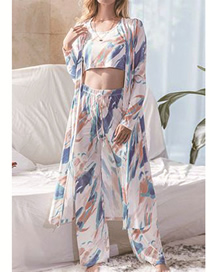 Fashion Color Three-piece Tie-dye Home Clothes