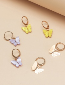 Fashion Golden Little Butterfly 3 Pair Earrings Set
