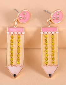 Fashion Pink Colored Pencil Earrings
