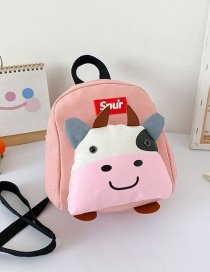 Fashion Pink Childrens 1-3-10 Year Old Cow Canvas Backpack