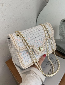 Fashion White Small One-shoulder Messenger Chain Underarm Small Square Bag