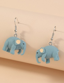 Fashion Elephant Three-dimensional Resin Alloy Elephant Earrings