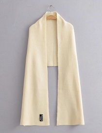 Fashion Beige Solid Color Letter Mark Knitted Cashmere Scarf Shawl