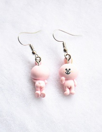 Fashion Bunny Simulation Three-dimensional Front And Back Duck Frog Rabbit Bear Epoxy Earrings