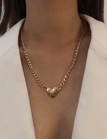 Fashion Gold Color Alloy Love Necklace