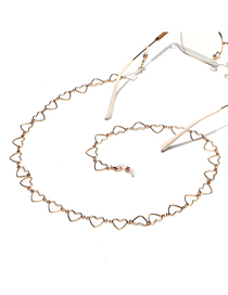 Fashion Gold Color Hollow Love Alloy Glasses Chain