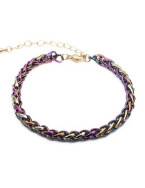 Fashion Bracelet Thick Chain Braided Copper Gold-plated Necklace Bracelet