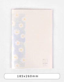 Fashion Light Blue Multiple Small Flowers Flower Printing Car Line Notebook