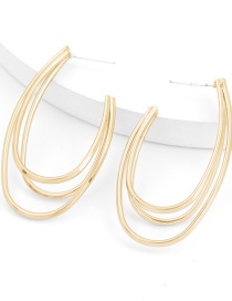 Fashion Gold Color Alloy Multilayer Hook Metal Earrings