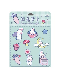 Fashion Sweet Rabbit Radish Hand Account Stickers Children Mobile Phone Water Cup Pvc Waterproof Small Stickers