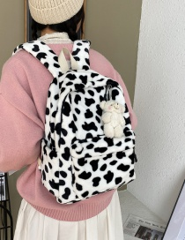 Fashion Shy Bear With Cow Pattern Cow Pattern Bear Backpack