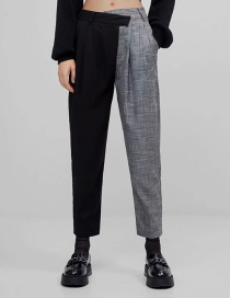 Fashion Black Stitching Contrast Low-rise Cropped Trousers