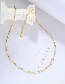Fashion Golden Pearl Chain Alloy Necklace