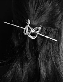 Fashion Silver Do Old Snake-shaped Letter Alloy Hollow Hairpin